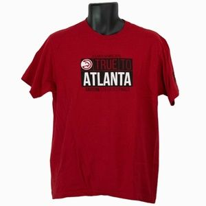 Men's Tultex Atlanta Hawks Red T-Shirt Size L